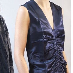 Celine 3/4 length silk dress in navy
